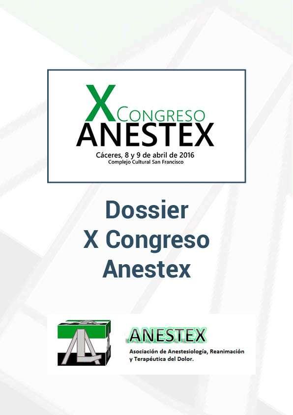 Portada Dossier X Congreso ANESTEX